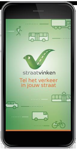 Startscherm van de Straatvinken app