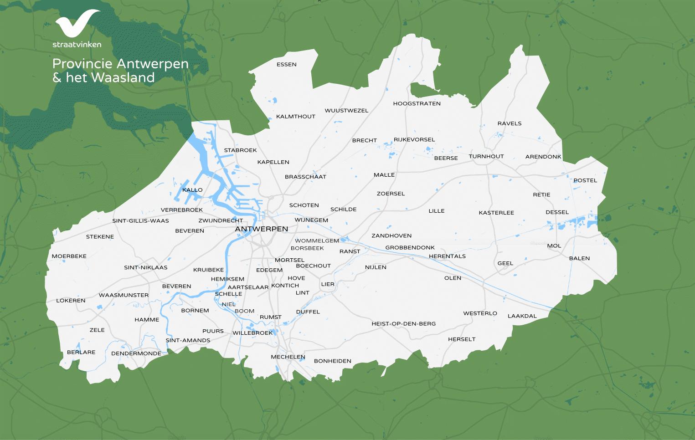 Telgebied Straatvinken 2019 Antwerpen & Waasland